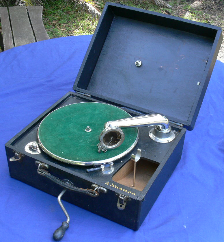 1920's Portable wind up Gramophone $350