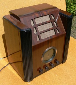 columbus early wooden toombstone radio